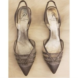 Adrianna Papell Silver Pointed Toe Heels